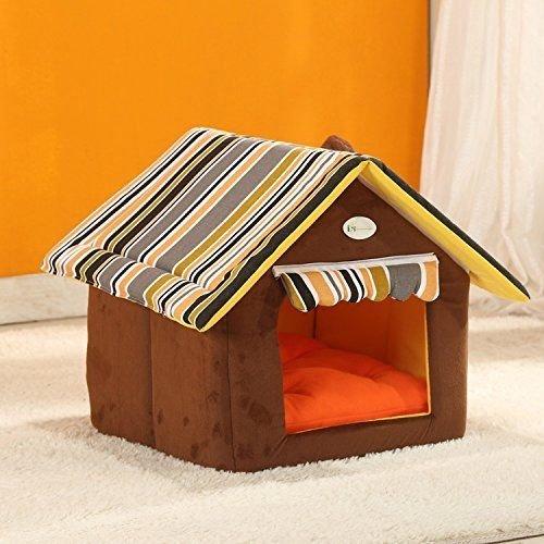dometool UK House Form Abnehmbare Hundehütten zusammenklappbare Wärme Doghouse Pet Nest Hütten, PET Höhle Fall Cat Raum Indoor & Outdoor Kleine Tiere Shelter (Indoor-outdoor-raum)
