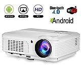 Projecteur LED Bluetooth Home Theatre HD 1080P Support Android sans Fil Vidéo...
