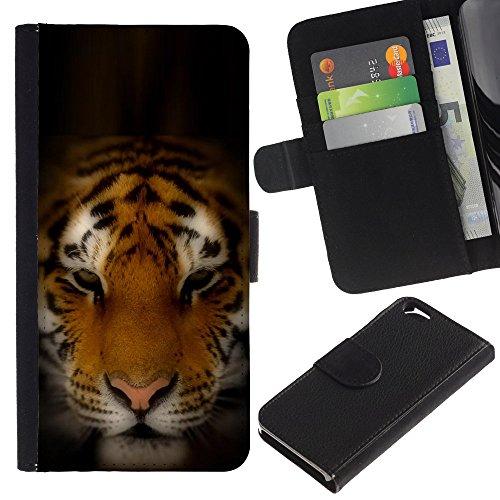 Graphic4You Tiger Tier Design Brieftasche Leder Hülle Case Schutzhülle für Apple iPhone 6 / 6S Design #5