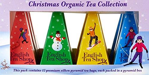 """English Tea Shop – Teegeschenk mit Schleife """"White Prism Christmas Collection"""", BIO, 12 Pyramiden-Beutel - 3"""
