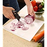 Easy Cutter By Yugg 2 In 1 Clever Knife And Cutting Board | Premium Quality Stainless Steel Blades Set For Picture Perfect Vegetables, Fruit, Cheese & Meat Slices