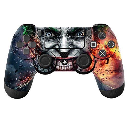 YHC Joker FirSticker Skin für Playstation 4 PS4 DualShock 4 Controller - Flachs Drum