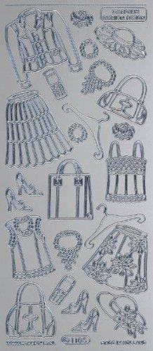 Unbekannt Starform Peel Off Motiv-Sticker 0751 silber Damenkleider 2