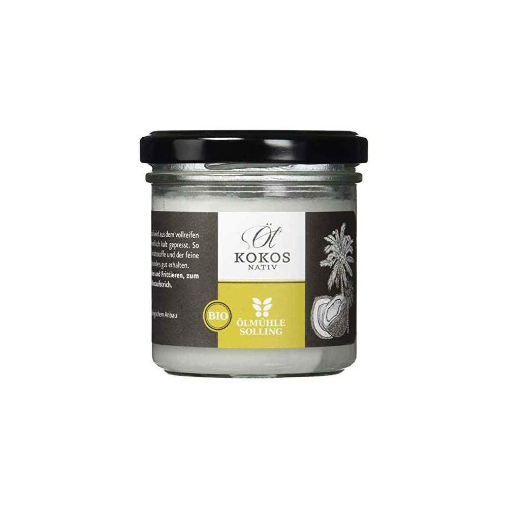 Lmhle Solling Bio Kokosl Nativ 1 Kaltpressung Premium Rohkostqualitt Glas 100 Ml