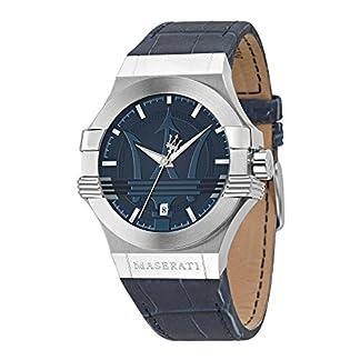 Reloj para Hombre, Colección Potenza, Movimiento de Cuarzo, Solo Tiempo con Fecha, en Acero y Cuero – R8851108015