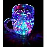 Worthy Shoppee Flashing Led 7 Colour Changing Liquid Activated Mug Beer Mugs Rainbow Colour Changing