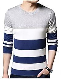 Seven Rocks Men's Cotton Multiple Striped Tshirt(T14)