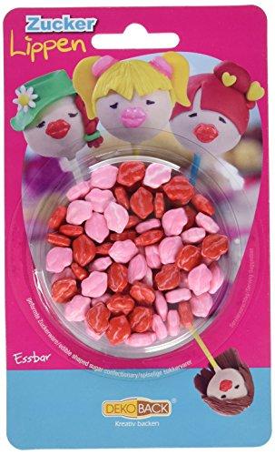 Halloween Cupcakes Mit Buttercreme Zuckerguss - Dekoback Essbare Zuckerlippen, 3er Pack (3