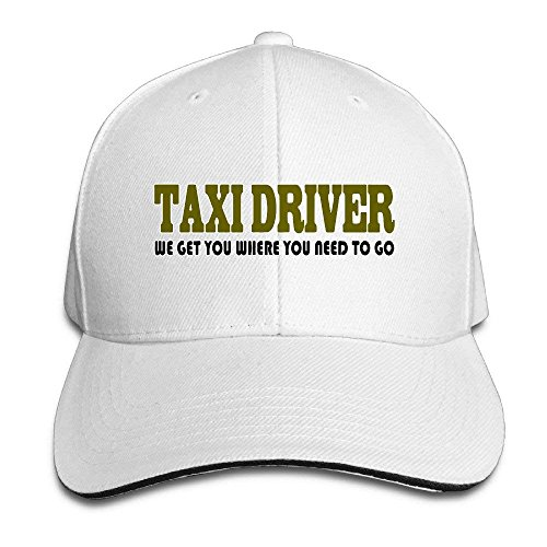 Funny Taxi Driver Adjustable Baseball Cap,Personality Caps Hats Men Women Casual Denim Adjustable Dad Hat Multicolored Low Profile Baseball Cap Great Gift for Unisex Friends Family