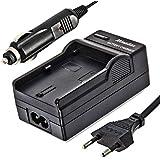 Minadax® Cargador 100% compatible para Canon LP-E12de coche con cable, base de carga intercambiables