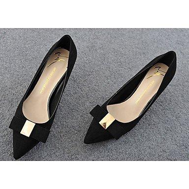 Moda Donna Sandali Sexy donna caduta tacchi Comfort Felpa casual Stiletto Heel Bowknot Nero / Marrone / Fucsia Altri Black