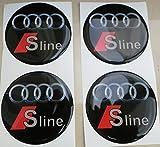 3M Radnabenkappen, 60mm, 3D-Tuning-Effekt, geharzt, Nieten, Sticker, Aufkleber für Leichtmetallfelgen, 4Stück
