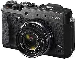 """Fujifilm X30 Appareil Ultracompact Numérique Wifi Expert, 12,3 Mpix X-Trans II (2/3""""), Zoom 4x (25-100mm) F1.8-4.9, AF à Détection de Phase, Noir"""