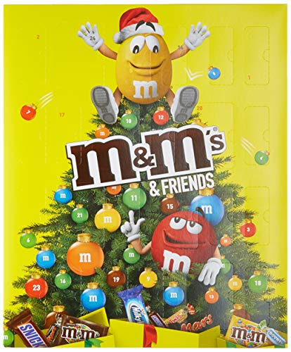 M&M Friends Schokoladen-Adventskalender 24 Portionsbeutel, 1er Pack (1 x 361 g) (Picks Playstation)