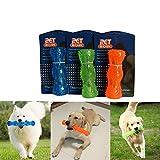 Langlebige TPR (thermoplastisches Gummi) groß Glitschige Hunde Spielzeug für Semi Aggressive Kauer Interaktives Haustier Hund Spielzeug für kleine, mittel große Hunde, Floating geeignet für Pool S