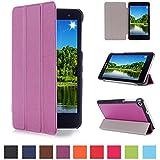 Huawei MediaPad T1 7.0 Funda de Cuero,Morado Ultra Slim PU Cuero Smart Case Cover Funda de Cuero Piel con Soporte para Huawei MediaPad T1 7.0 Tablet Funda Carcasa con Soporte funtion