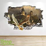 1Stop Graphics Shop Harry Potter Autocollant Mural 3D Look - Chambre Enfants Poudlard Autocollant Mural Z616 - Large: 70 cm x 111 cm