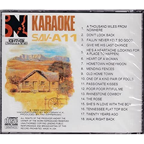 BMB Karaoke CD Graphics (CDG Format) / Country Music SAV A11 by Karaoke (1993-05-04) - Bmb Karaoke