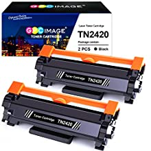GPC Image TN2420 TN-2420 Compatible Toner Cartridges for Brother TN2410 TN-2410 for Brother MFC-L2710DW HL-L2350DW DCP-L2530DW HL-L2370DN DCP-L2510D HL-L2375DW HL-L2310D MFC-L2730DW L2550DN (2 Black)