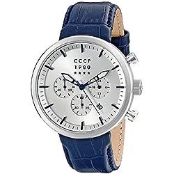 CCCP Herren cp-7007-05KASHALOT Kleid Analog Display Japanische Quarz blau Armbanduhr