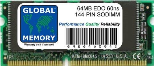 GLOBAL MEMORY 64MB 60ns 144-PIN EDO SODIMM ARBEITSSPEICHER RAM FÜR NOTEBOOKS - 64 Mb Notebook
