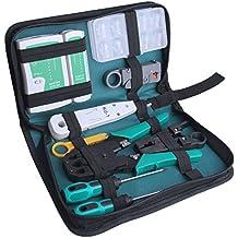 IDMAX Profesional de red de mantenimiento de la computadora Herramientas de reparación Kit con Zipper Caja