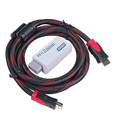 WOVTE Wii to HDMI Converter Real 720P 1080P HD Output Video Audio Converter Adapter with High Speed HDMI Cable 6 ft Supports All Wii Display Modes by WOVTE