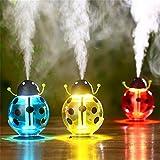 Luftbefeuchter, LuckyFine Käferform Mini Feuchtigkeit Gerät Aroma Verbreitung Mit Kleinem Nachtlicht USB Schnittstelle rot