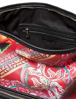 Desigual - Bag Folklore Cards Olesa Women, Shoppers y bolsos de hombro Mujer, Negro, 14x32.5x31 cm (B x H T) de Desigual