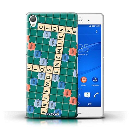 Kobalt® Imprimé Etui / Coque pour Sony Xperia Z3 / Ignorance Béatitude conception / Série Mots de Scrabble Ennemis Proximité