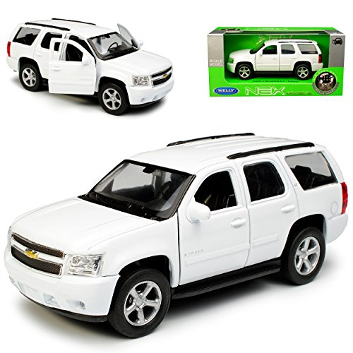 Welly Chevrolet Chevy Tahoe GMT921 SUV Weiss 3. Generation 2006-2013 ca 1/43 1/36-1/46 Modell Auto
