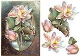 Bellissimi fiori di loto con decoupage by Anne leva