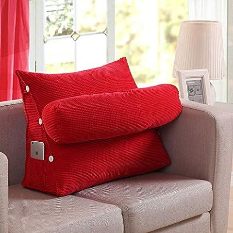 Buttare decorativo Federe Fodera per cuscino Home divano stereo BedTriangular cuscino per la testa del poggiatesta 45*40*22cm,verde