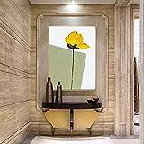 adgkitb canvas Pittura a Olio Astratta Moderna Minimalista del Fiore Pittura Stampa su Tela Pittura Soggiorno Portico corridoio Hotel Pittura decorativa50x70cm No Frame 3