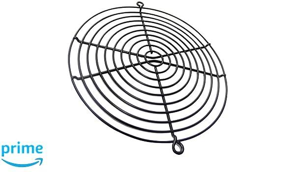 Griglia di protezione cromata 240x240 mm ventilazione per ventilatore della computer PC C15100 Aerzetix