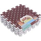 Menú de la vida de los niños suave 2,5 x 30 cm de la estera suave de la espuma juego de Puzzle espesada alfombra de juego - café 30*30*2.5CM 24pcs