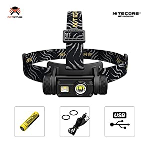 Nitecore HC65 LED Head Torch USB Rechargeable 1000LM Triple Output IPX8 Waterproof Battery Included Upgrade from HC60 Headtorch