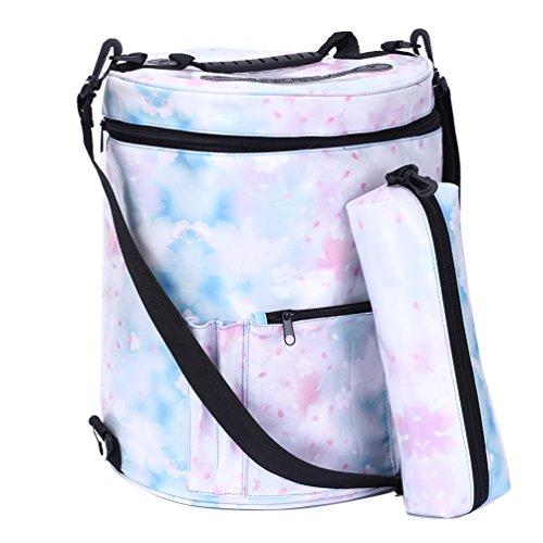 Große Stricken (Uarter Waterproof Knitting Tote Bag Premium Garn Aufbewahrungstasche Große Garn Speicher Organizer für Häkeln und stricken Organisation (Blau))