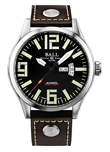 Ball Men's Automatic Watch Engineer Master II Aviator Date Day Analog NM1080 °C L14 A cm black