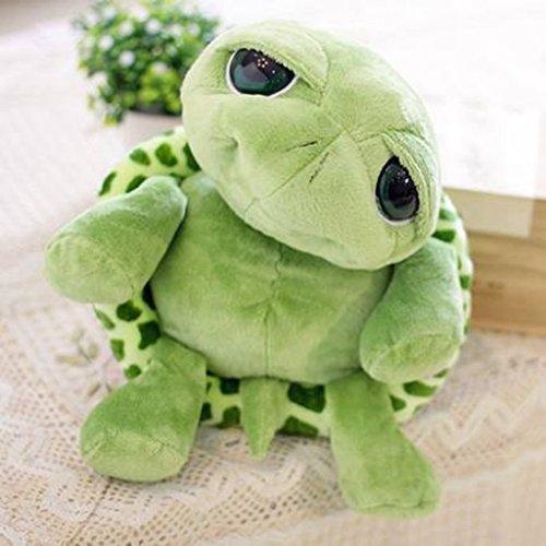 Edealing (TM) Lovely Big Eyes Kleine Schildkröte Puppe Baby Spielzeug Cute Puppe Plüschtiere für Kinder -Green