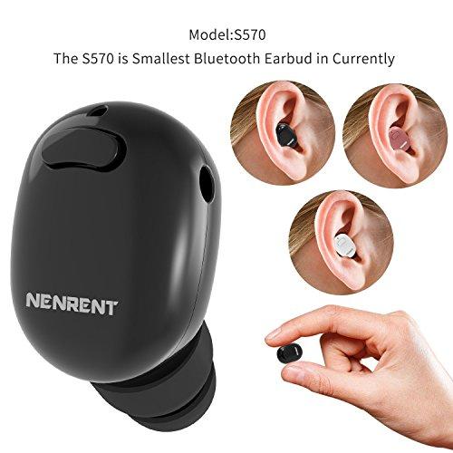 Kingbull kleinste Mini Bluetooth Headset, Unsichtbar V4.1 Wireless Bluetooth In Ear Headset Kopfhörer Sport Ohrhörer Kabellos Kopfhörer mit Mikrofon Freisprecheinrichtung Anrufe für iPhone,iPad,,Samsung Galaxy, Huawei, LG,HTC