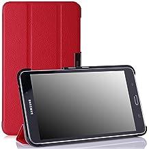 MoKo Samsung Galaxy Tab 4 7.0 / Tab 4 Nook 7 2014 Funda - Ultra Slim Ligera Smart-shell Funda para Samsung GALAXY Tab 4 7.0 Pulgadas Tableta, ROJO (NO va a caber el Tab 3 7.0)