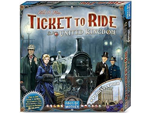 Asmodee Ticket to Ride - Vereintes Königreich Brettspiel, Erweiterung, 2
