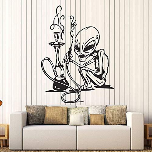 zhuziji Adesivi murali Narghilè Adesivo in Vinile Decorazioni per Fumatori per Shisha Bar Vape Store Murale Rimovibile per Negozio Logo De55x42cm