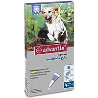 Advantix ® Spot On per cani oltre 25 Kg - 4 pipette da 4.0 ml - Antiparassitario per Zecche Pulci e Pidocchi