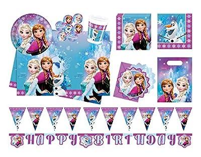 PROCOS Conjunto para fiesta 10110970B, de Disney, diseño de Frozen Northern Lights, tamaño XL, 52piezas por Procos
