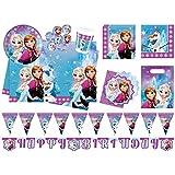 Procos 10110970B - Partyset Disney Frozen Northern Lights, Größe XL, 52 teilig