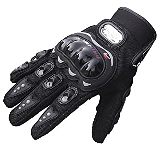 ANGTUO Motorcycle Gloves, 1 Pair All Finger Non-slip Gloves Summer Outdoor Sport Cycling Gloves - L/XL
