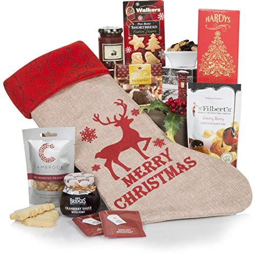 Caja de cesta de regalos Feliz Navidad -...