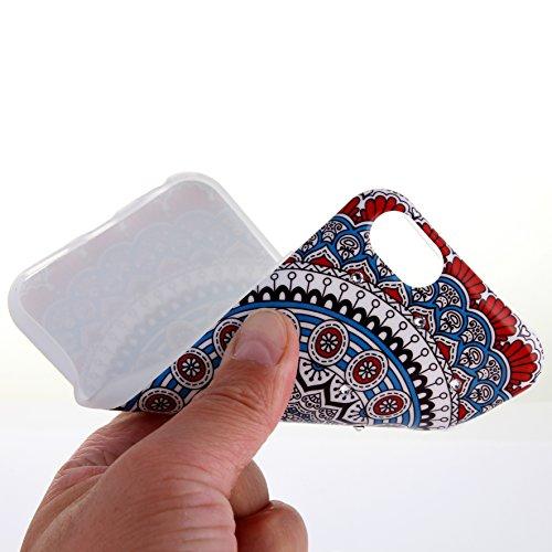 AiBousa® Coque douce et fine pour iPhone6/6S/6Plus/6SPlus Style ethnique avec motifs géométriques et cristaux, TPU, naturel, iPhone 6/6S (4.7'') bleu